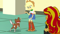 Applejack giving Winona a dog biscuit SS7.png