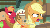 Applejack in angry disbelief -why-!- S7E13