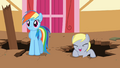 Derpy cheering for Applejack S2E14.png