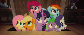 Mane Six and Spike enter Capper's home MLPTM