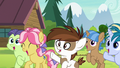 Pipsqueak and campers happily cheering S7E21.png
