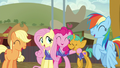Ponyville team sharing a laugh S6E18.png