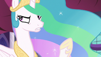 Princess Celestia -flowers in a wall sconce- S7E10