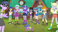 Principals and campers cheer for Equestria Girls EG4