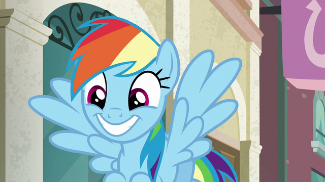 File:Rainbow Dash grinning wide S6E9.png