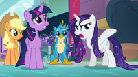 "Rarity ""what is the meaning of all this water?!"" S8E21"