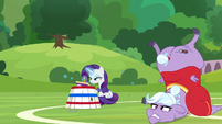 Rarity sketching in her sketch book S8E17