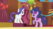 Rarity surprised at Twilight's mane S1E1