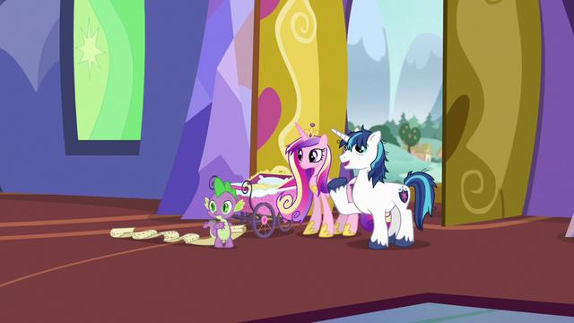 "File:Shining Armor ""we'll just put Flurry's things over here"" S7E3.png"