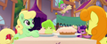 Spike bouncing off of green gelatin MLPTM.png