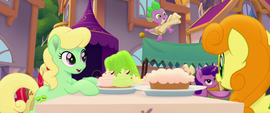Spike bouncing off of green gelatin MLPTM