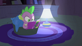 Spike reading his comic S4E6.png