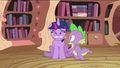 Spike with scared Twilight Sparkle S2E03.png