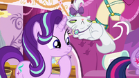 Starlight Glimmer observing Rarity S7E19