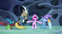 Starlight pushing Discord and Trixie apart S6E25