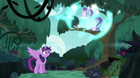 Starlight teleports into the forest S6E21