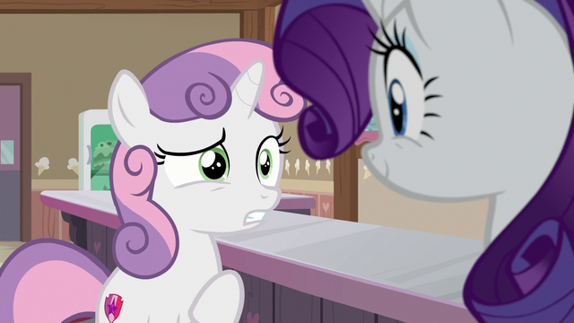"File:Sweetie Belle ""where is 'here' exactly?"" S7E6.png"