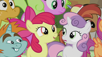 Apple Bloom suggesting a monster attack S5E9