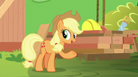 "Applejack ""here is what we're gonna use"" S8E9"