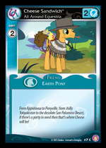 Cheese Sandwich, All Around Equestria card MLP CCG