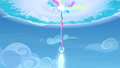 Crystal heart shooting into the sky S3E12.png