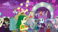 Equestria Land patrons using their phones EGROF