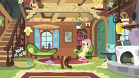Fluttershy's tea set clatters to the floor S5E7