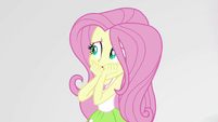 Fluttershy startled by Pinkie Pie EGS3