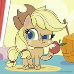 MLP Pony Life Instagram - Applejack Holding Apple