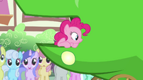 Pinkie Pie thinking about what Apple Bloom said S3E4