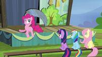 Pinkie bouncing around S4E21