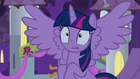 Rain starts falling on Twilight's head S9E17