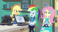 "Rainbow ""we know some pretty shy people"" EGFF"