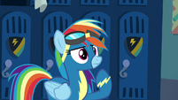 Rainbow Dash thinking for a moment S8E5