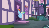 Rainbow gets hit by closed door S4E18