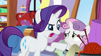 "Rarity ""I'm going to call you Repeatie Belle!"" S8E12"