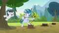 Rumble appears from behind a tree S7E21.png