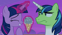 Shining Armor looking annoyed at Twilight Sparkle S7E22