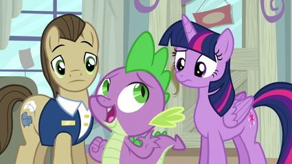 "Spike ""too squeaky! better keep looking!"" S5E3"