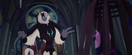 Storm King laughing at Twilight Sparkle MLPTM
