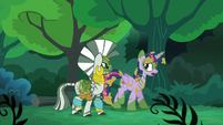 Twilight --Chrysalis and her army tried to take over Canterlot-- S5E26