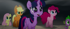 Twilight Sparkle and friends looking amazed MLPTM