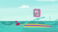 Twilight and Spike fall into the water S9E5