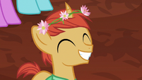Villager colt grins widely at Empress Sable S7E16