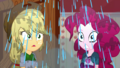 Applejack and Pinkie Pie showered with water SS14.png