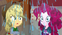 Applejack and Pinkie Pie showered with water SS14