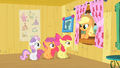 Applejack congratulating the CMC on the tree house S1E18.png