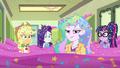 Equestria Girls and Celestia in a sea of confetti EGDS12c.png