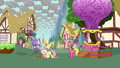 Fluttershy about to leave Ponyville S03E13.png