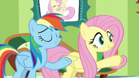 Fluttershy and Rainbow -you can pass the test- S6E11